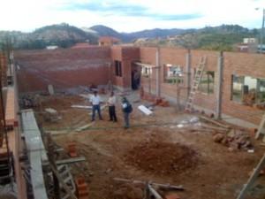 Flerbrukssalen. Bildet er tatt fra 2. etasje i administrasjonsbygget.